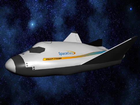 Sierra Nevada Corporation's Dream Chaser - a seven-person space shuttle designed for orbital flight.